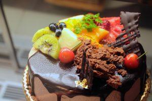 モンブランフジヤのデコレーションケーキ
